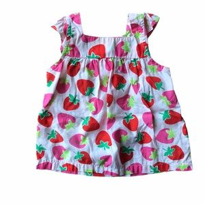 Carter's Pink Strawberry Dress 9 Months